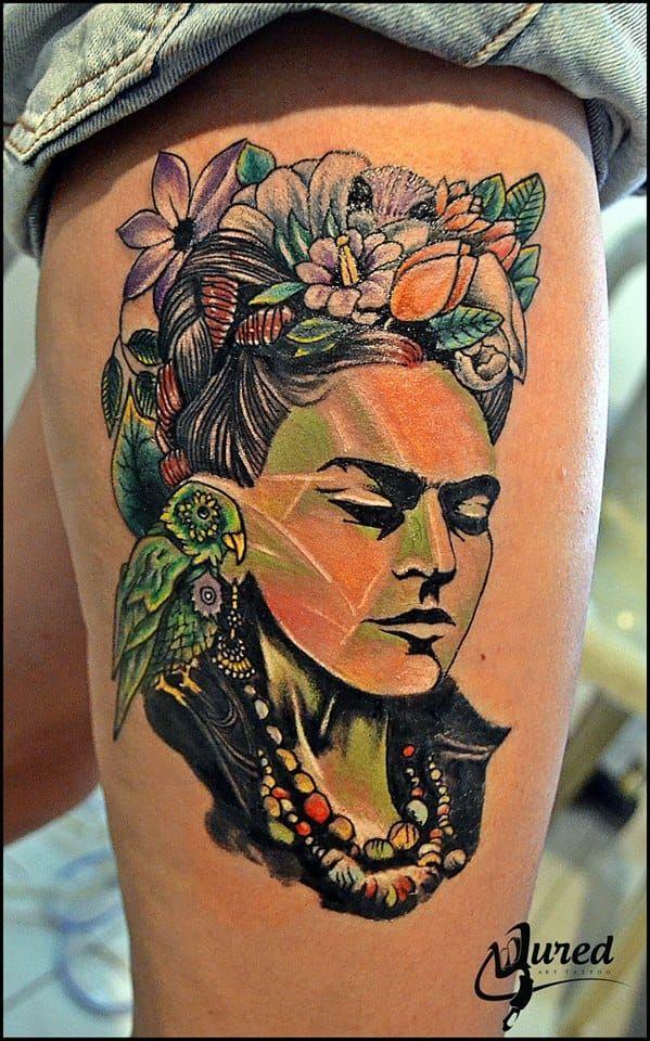 15 Artistic Frida Kahlo Tattoos Dovme Tasarimlari Dovme