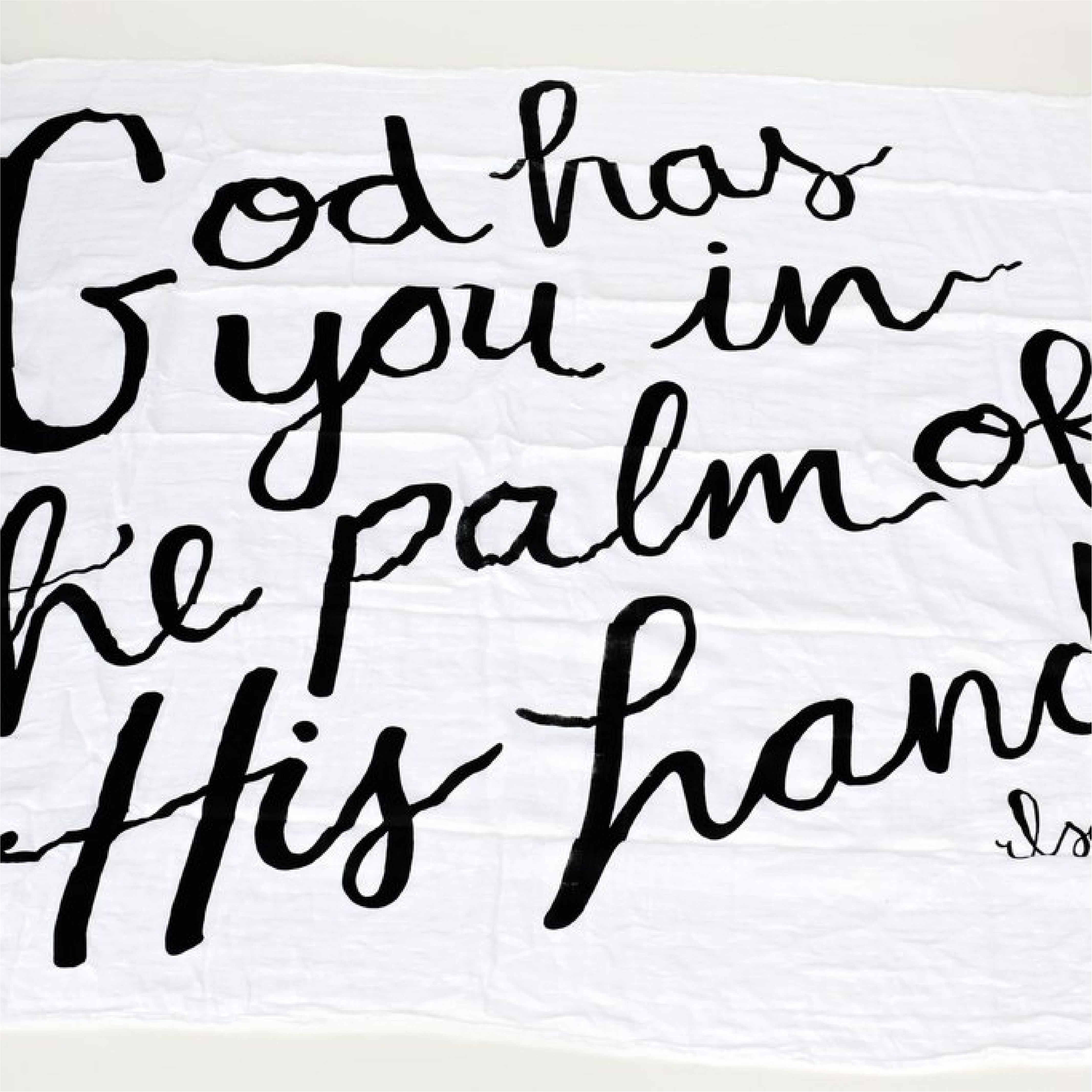 Organic Cotton Muslin Swaddle Blanket: Isaiah 49:16