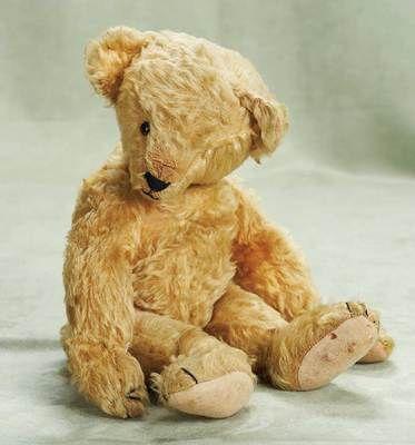Early golden mohair teddy bear, circa 1920