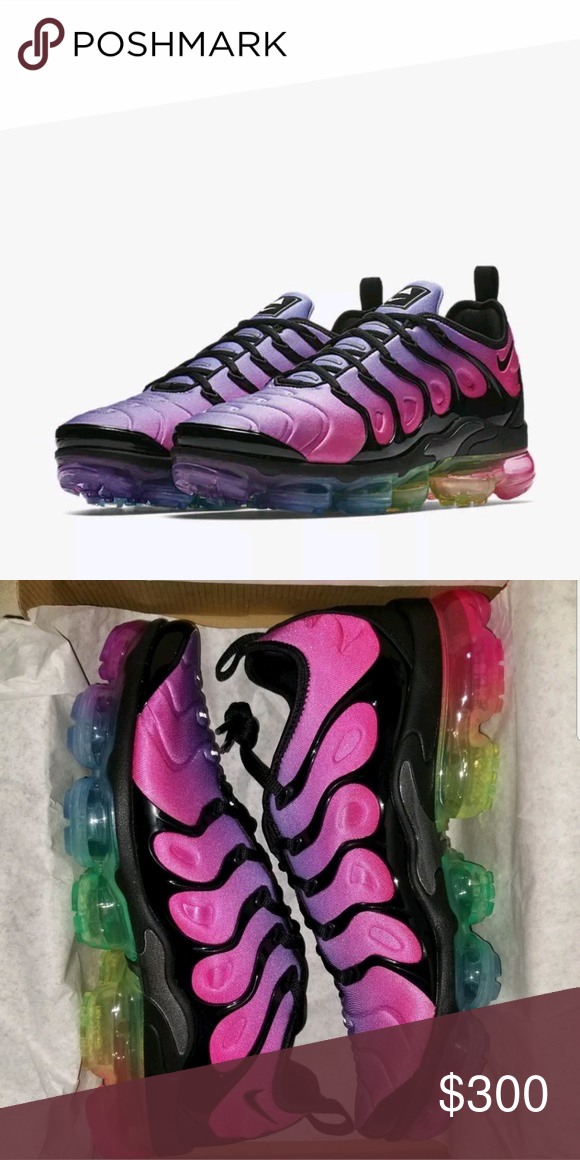 cc84149065 Nike Vapormax Be True 2018 Ombre 9 in mens 10.5 wo Rainbow colored sole.  Men's size 9, Women's size 10/10.5. Only selling because they're too big.