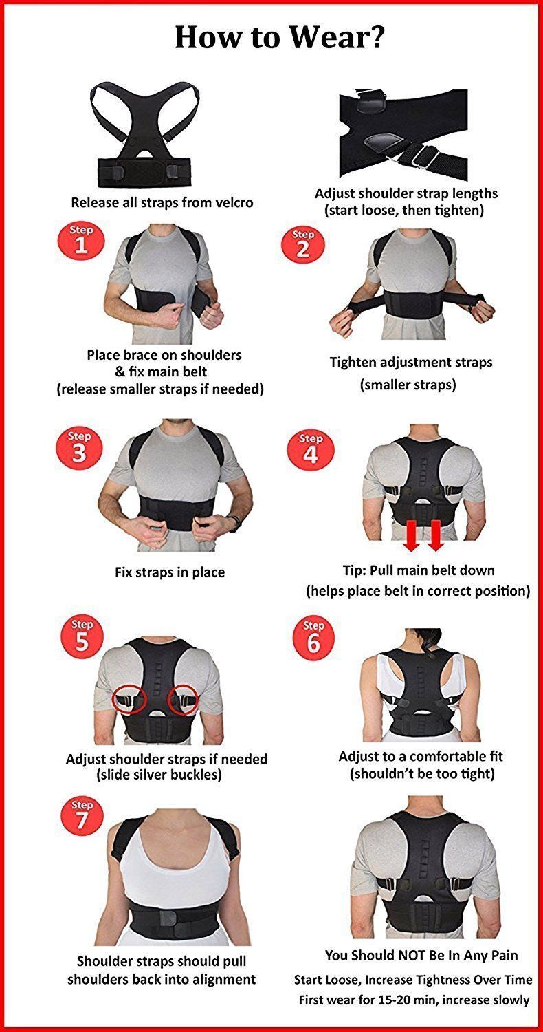 Health & Beauty Ambitious Aus Magnetic Acupressure Fat Burner Back Belly Belt With 12 Magnets