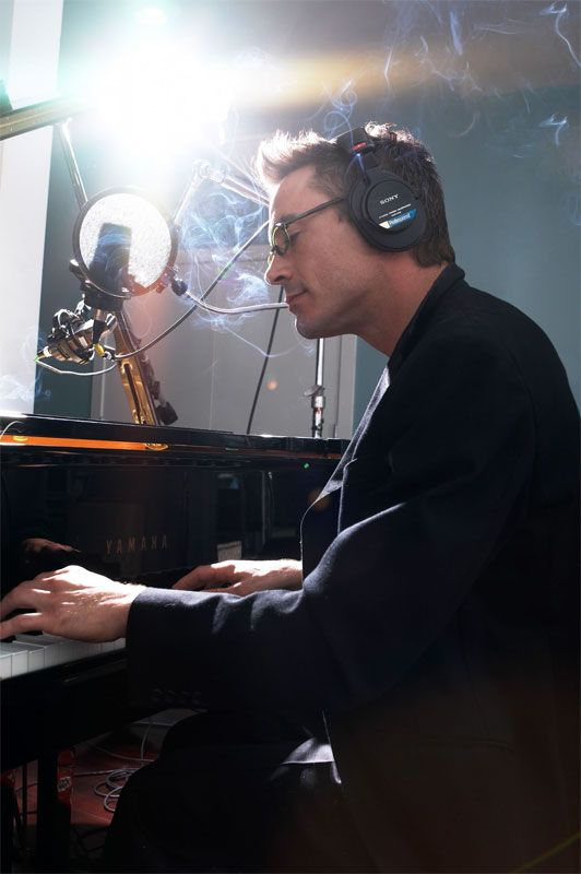 robert downey jr...nothing sexier than this man on a piano