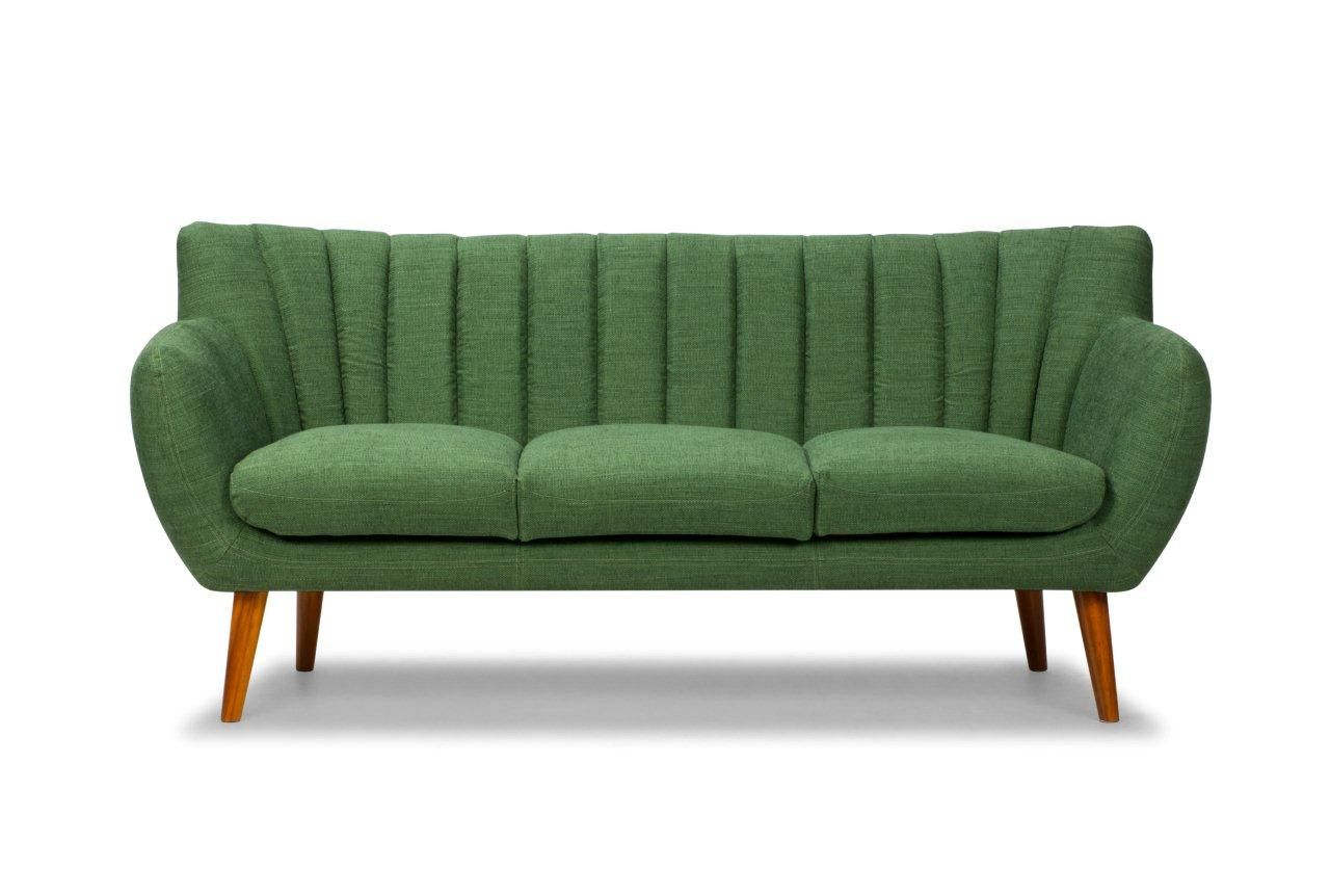 Nana 3 Seater Sofa, Eves Forest Green