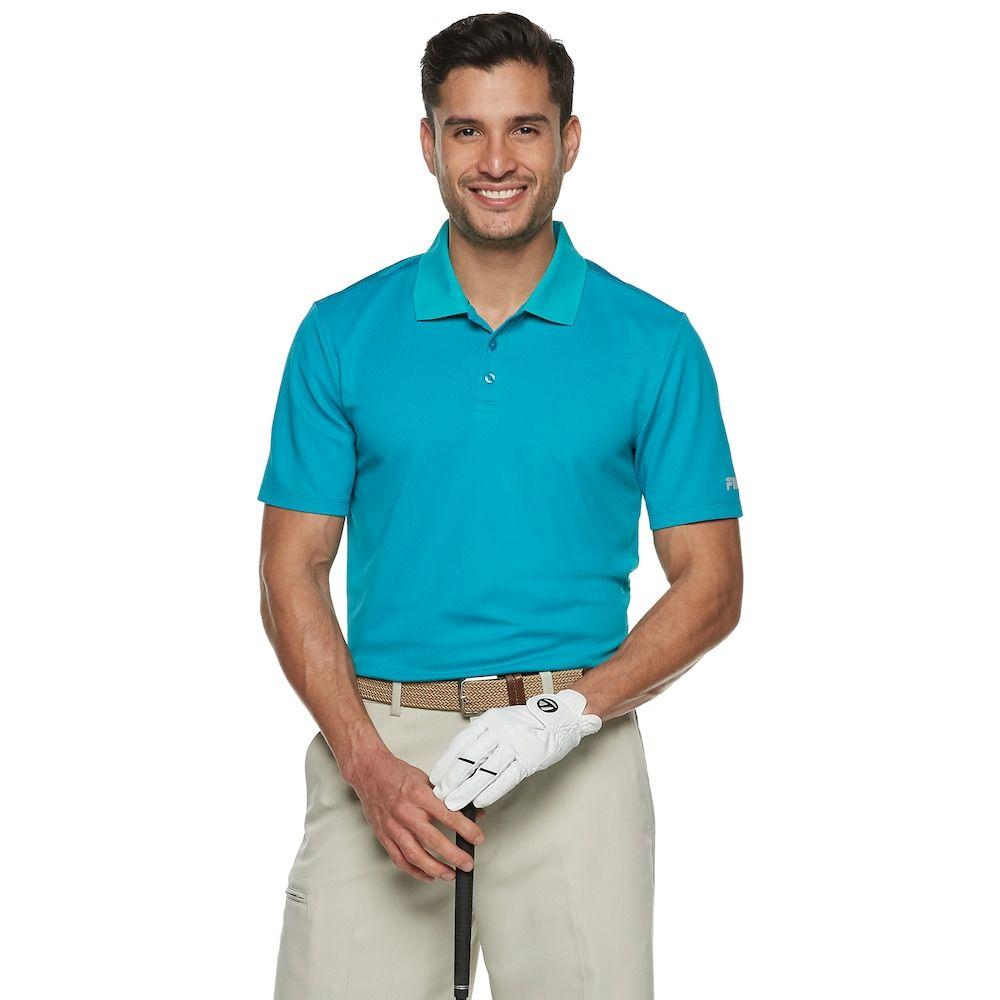 8693cb0d95cc1 Men's FILA Sport Golf® Regular-Fit Pro Core Pique Performance Polo, Size:  Medium, Med Blue