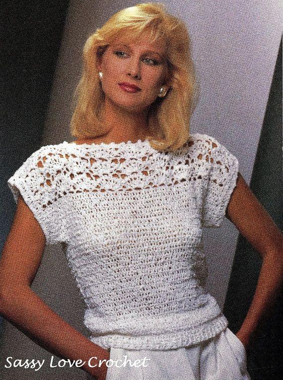 Crochet Womens Sweater Pattern, Crochet Top Pattern- Summer Top ...