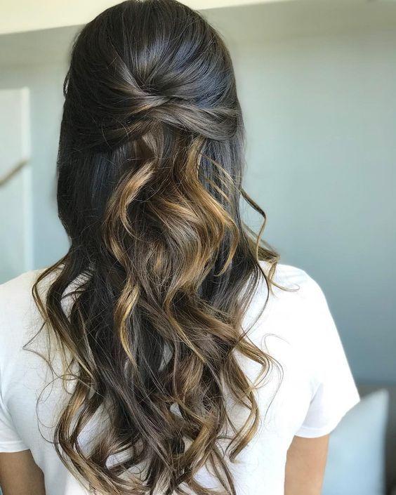Half Up Half Down Hairstyle Hair Styles Down Hairstyles For Long Hair Down Hairstyles