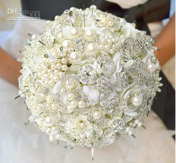 New Luxury Jewelry Wedding Bouquet Highend Custom Bride Bouquet