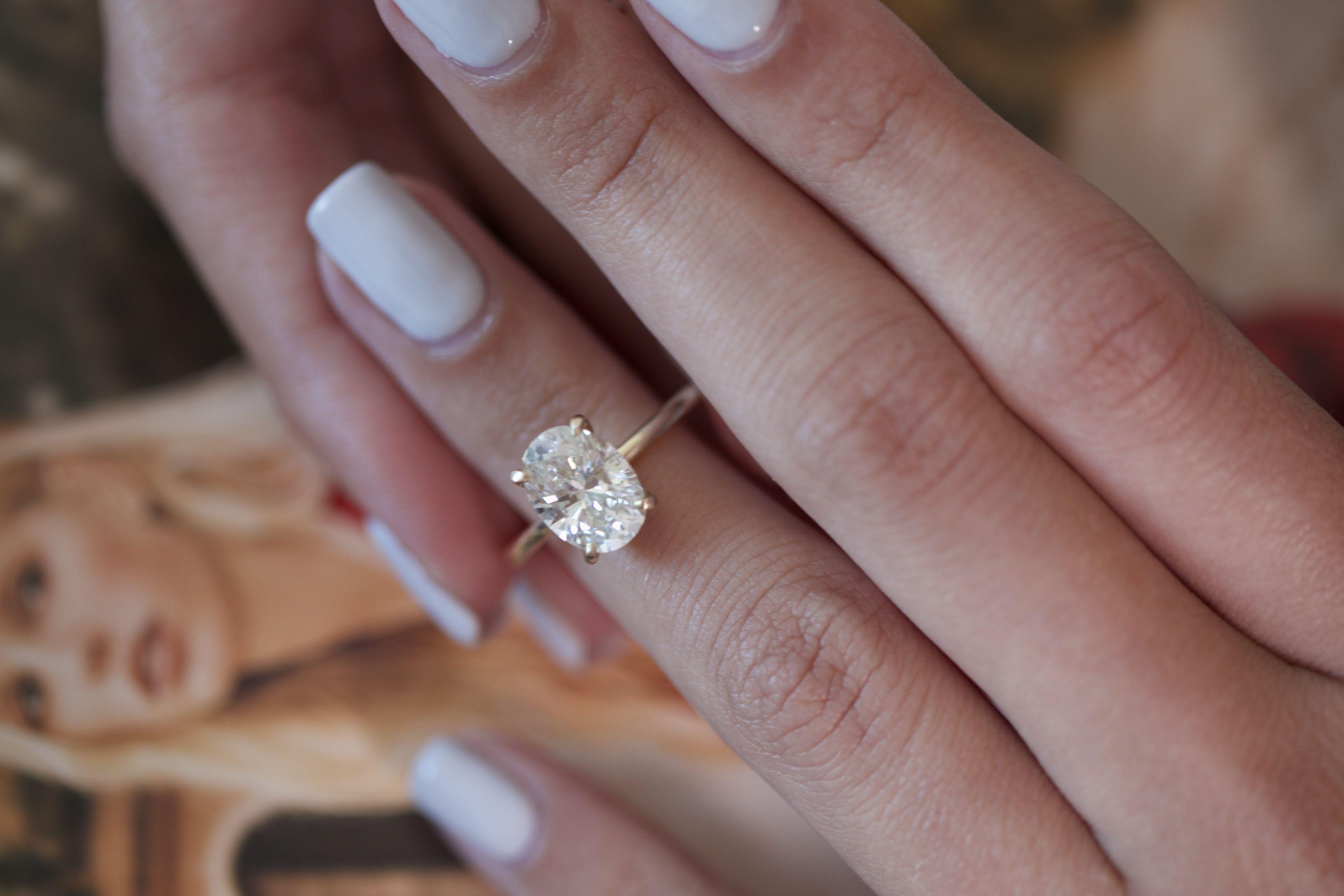 1 50 Carat Oval Diamond Engagement Ring 14k Yellow Gold Diamond Ring Oval Diamond Ring Solitaire Diamond Ring Engagement Ring Oval Diamond Engagement Ring Gold Wrap Ring White Gold Rings