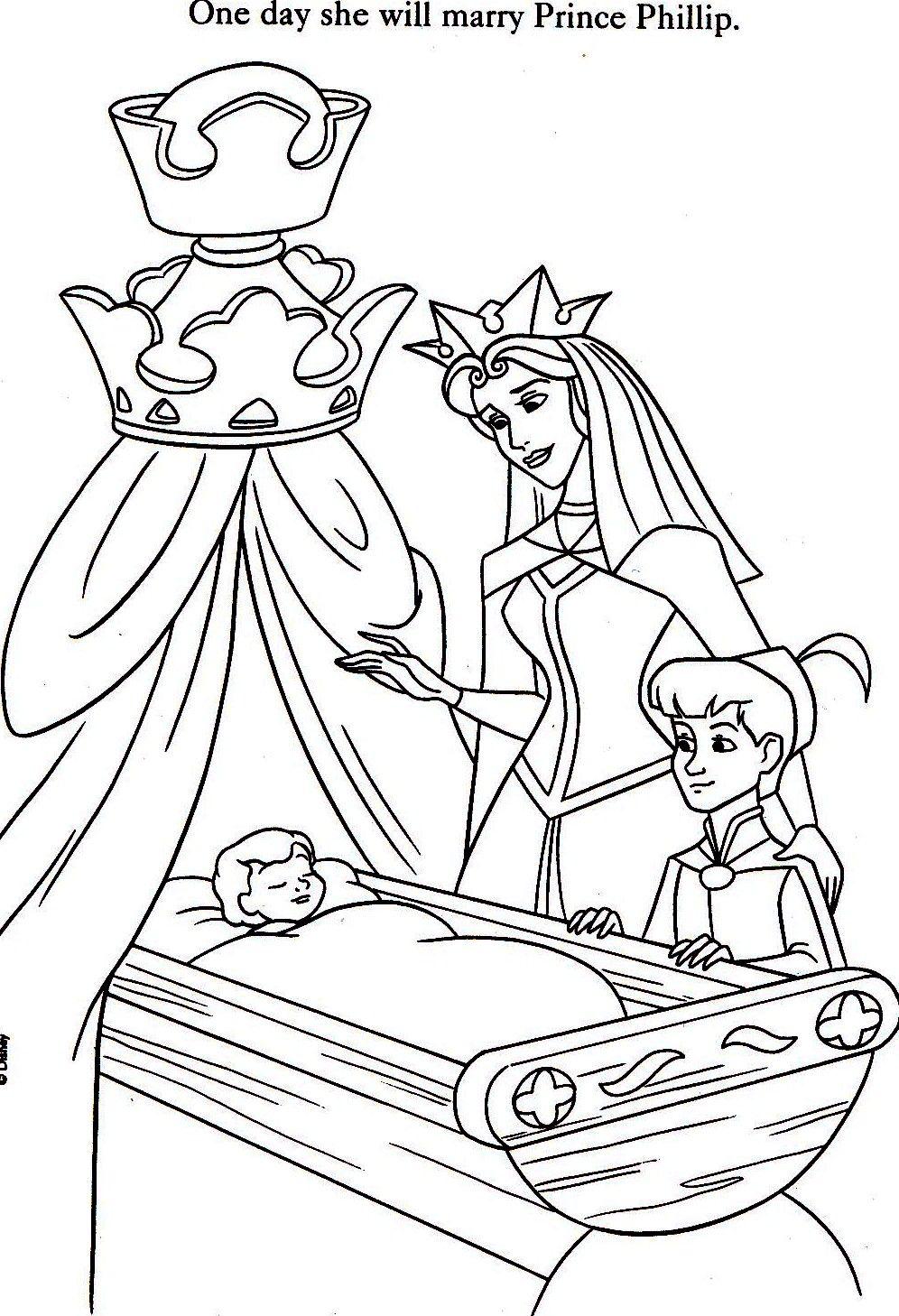 Aurora Mom Phillip Kleurplaten Disney Sprookjes
