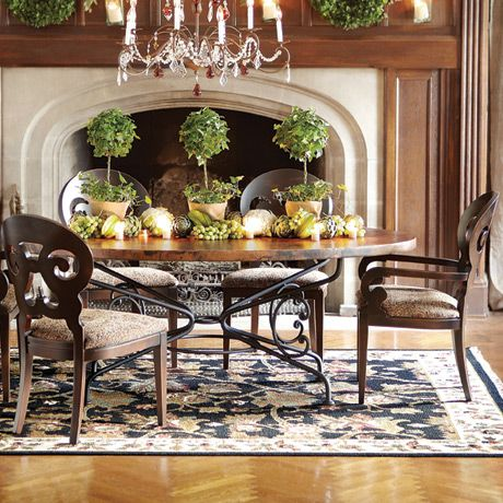 Arabesque Small Oval Copper Table  Beautiful Table At Arhaus Interiors.