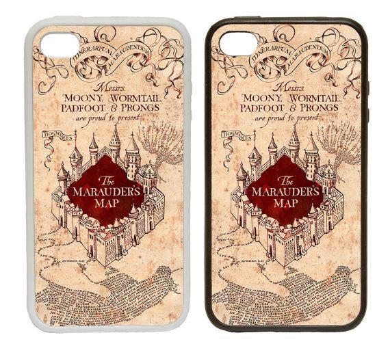 Hogwarts Marodeure Karte gedruckten Gummi- oder Kunststoff-Telefon Cover Case Geschenk Idee Harry Potter inspiriert