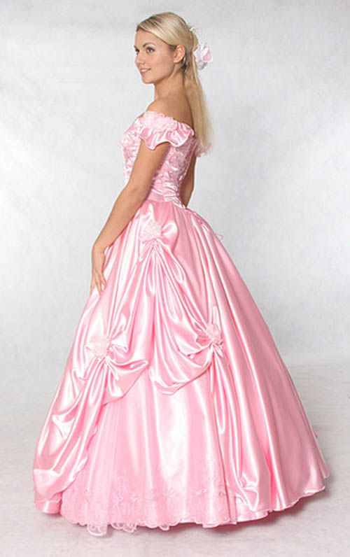 Pink princess yellow dress