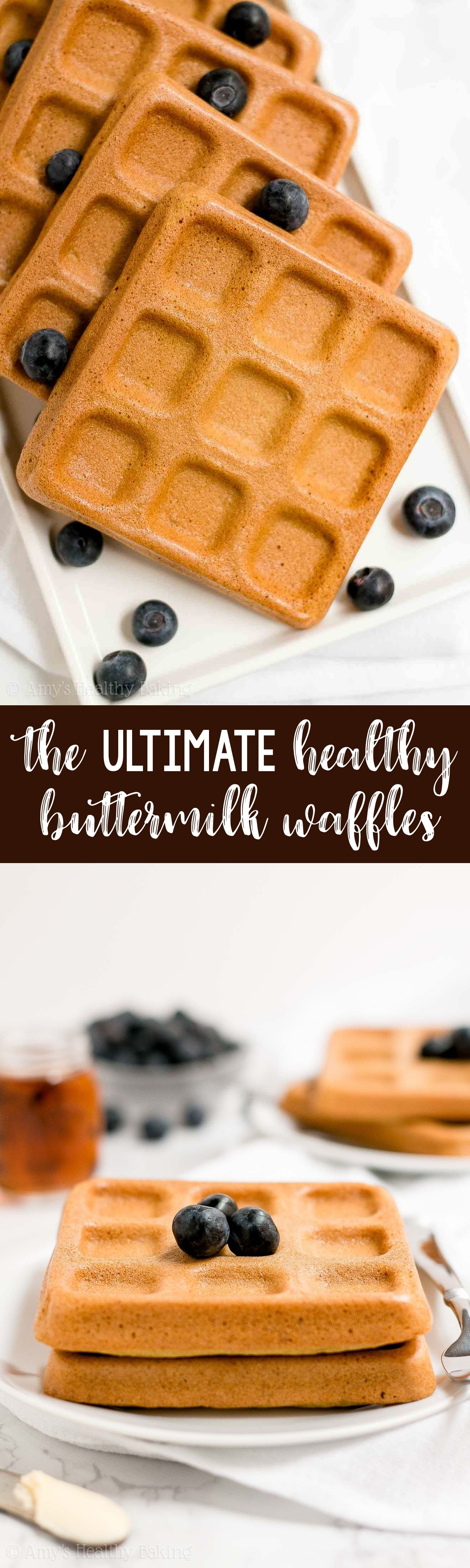 The Best Healthy Buttermilk Waffles Only 102 Calories They Re Truly Perfect Light Fluffy Crispy On T Waffle Recipe Healthy Healthy Waffles Healthy Baking