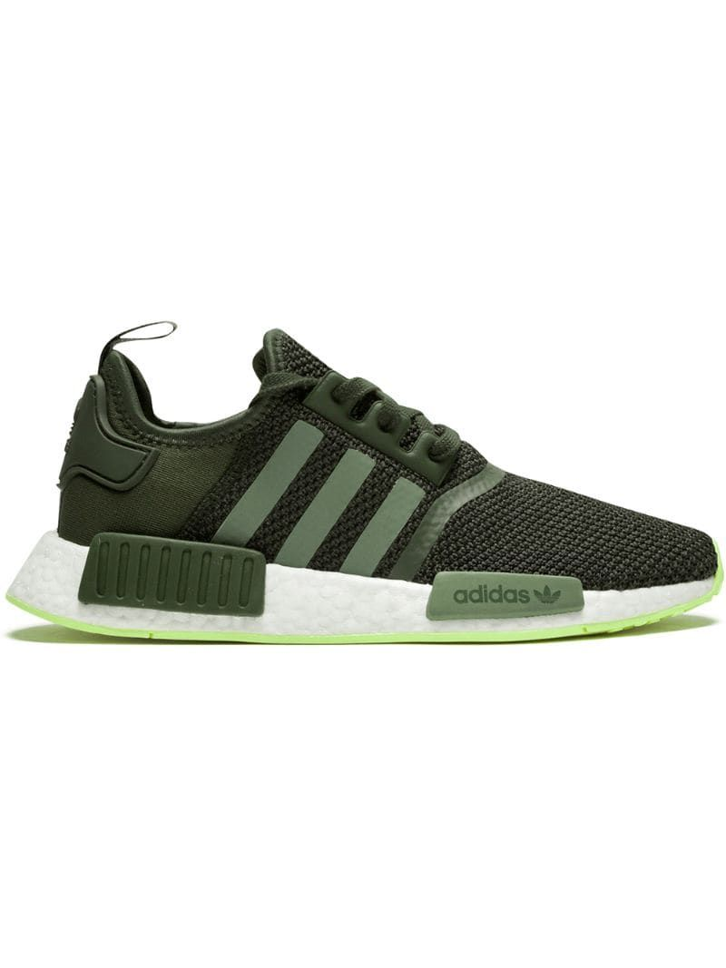 Adidas originals Nmd R1 Mesh And Rubber Trainers in Green