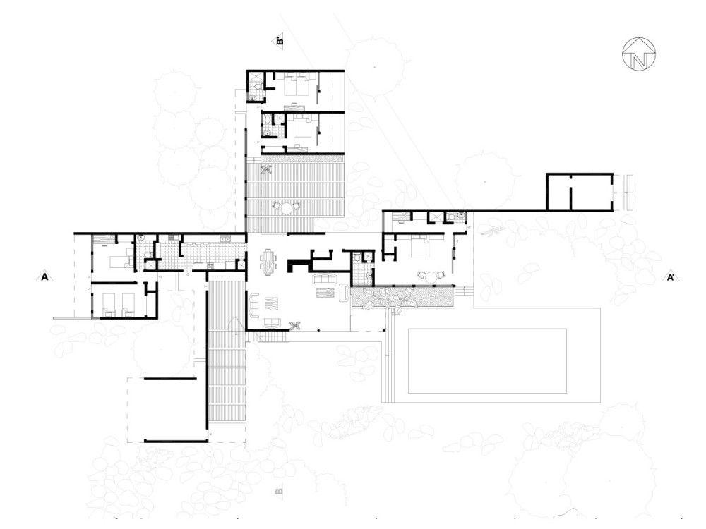 Richard Neutra Casa Kaufmann ALMADELEFANTINHA – Richard Neutra Kaufmann House Floor Plans