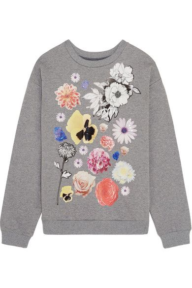 Christopher Kane's 'Stickers' sweatshirt is part of the brand's 10th anniversary capsule, inspired by its iconic styles. It has been cut in Italy from soft cotton-jersey and is printed with overexposed, photograph-style rose, hydrangea and dahlia motifs. Wear yours with relaxed tailoring and denim.