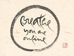 calligrafia breathe you are online - thich nhat hanh