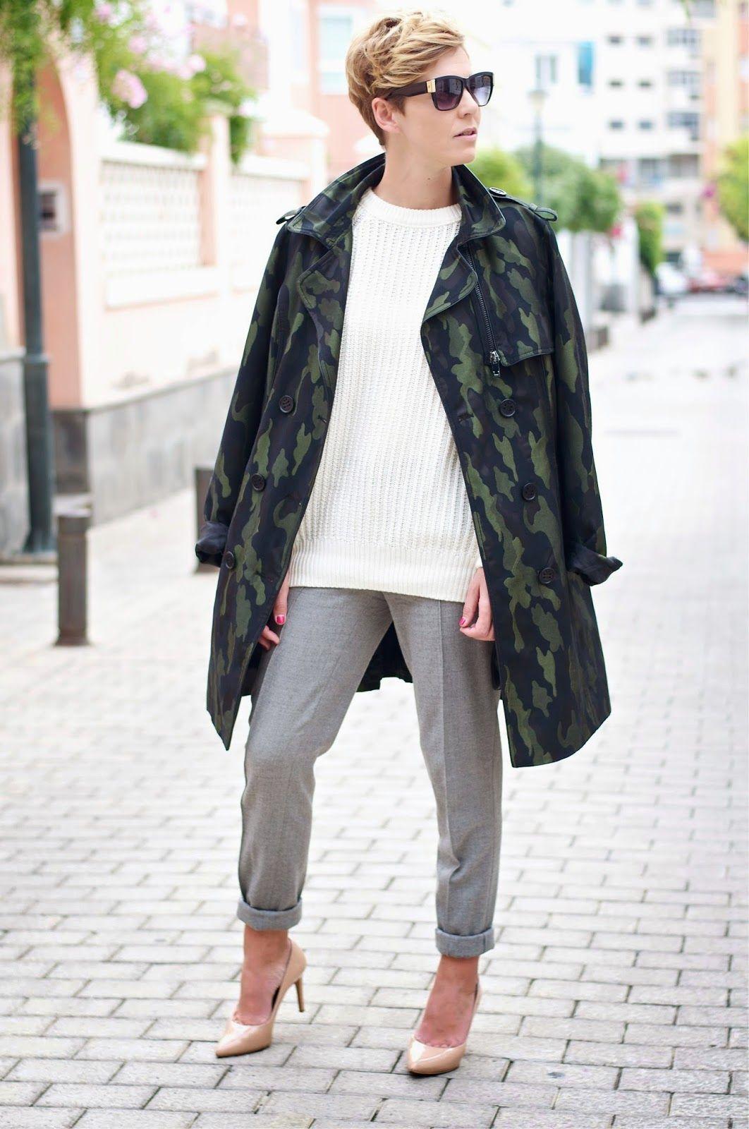 Camo trench | GirlBoss | Camuflaje, Moda femenina y Abrigos