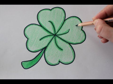 how to draw a 4 leaf clover easy drawing tutorial