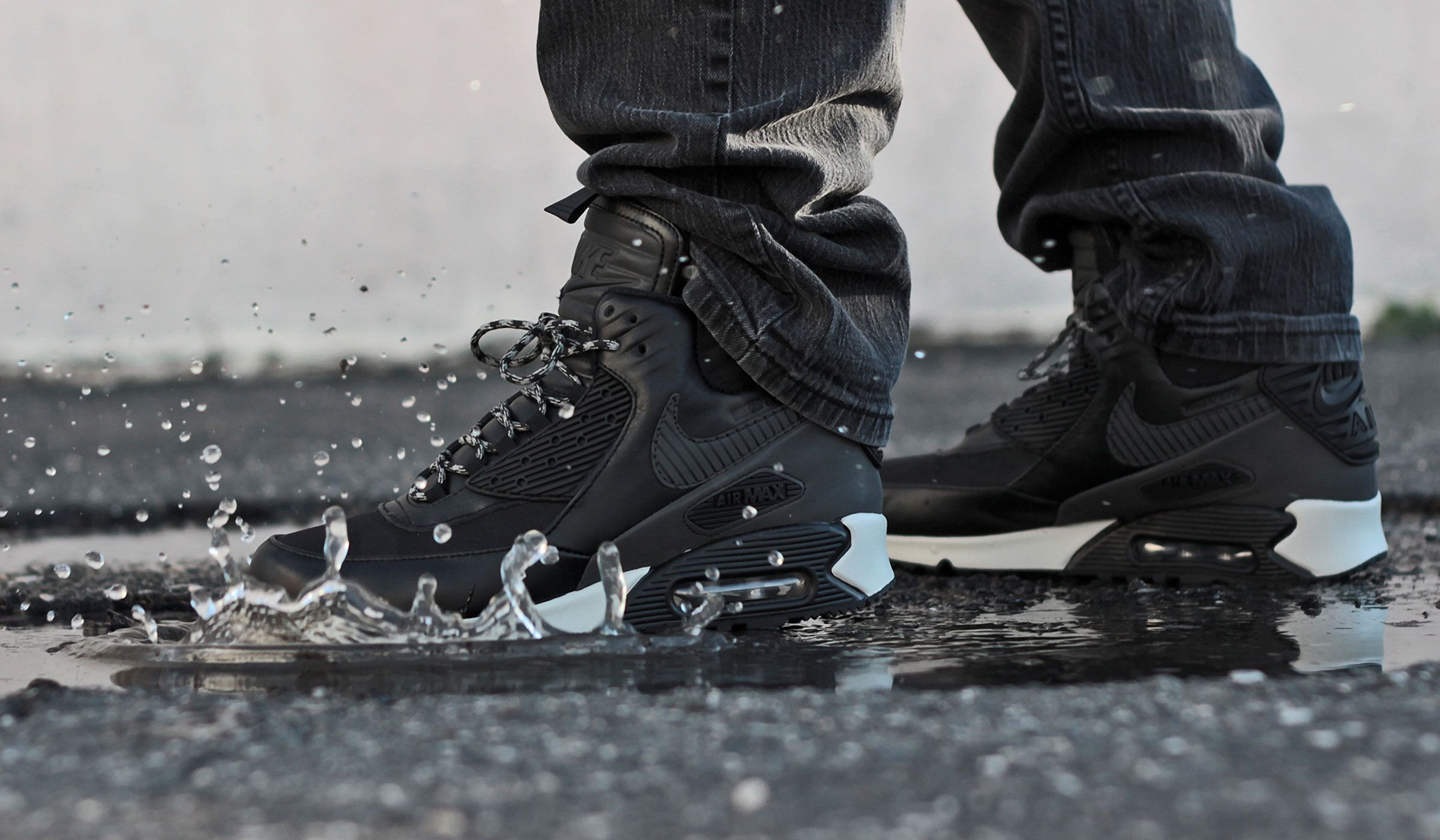 """Protect Yourself With The Nike Air Max 90 Sneakerboot """"Black Reflective"""":  October am"""