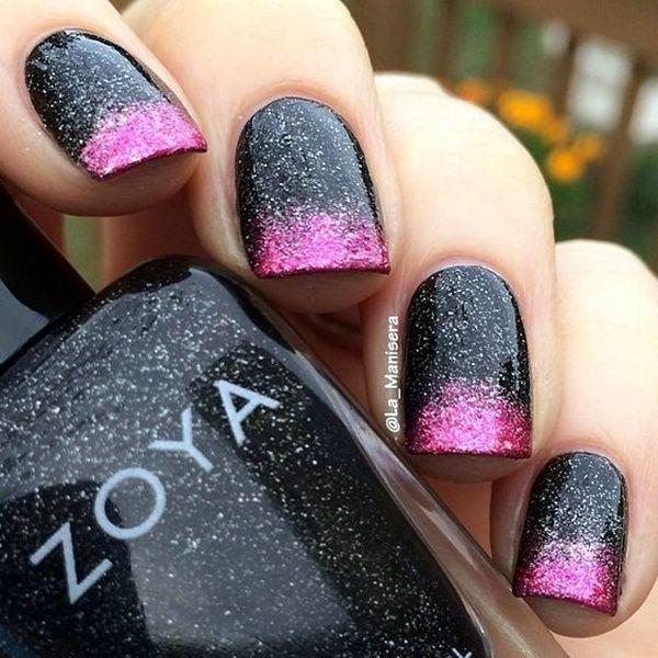Cute Pink And Black Nails Designs 8 Cuteglitternails Pretty Tips