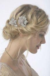 Wedding hairstyles updo 1920s side buns 48 Ideas #weddingsidebuns