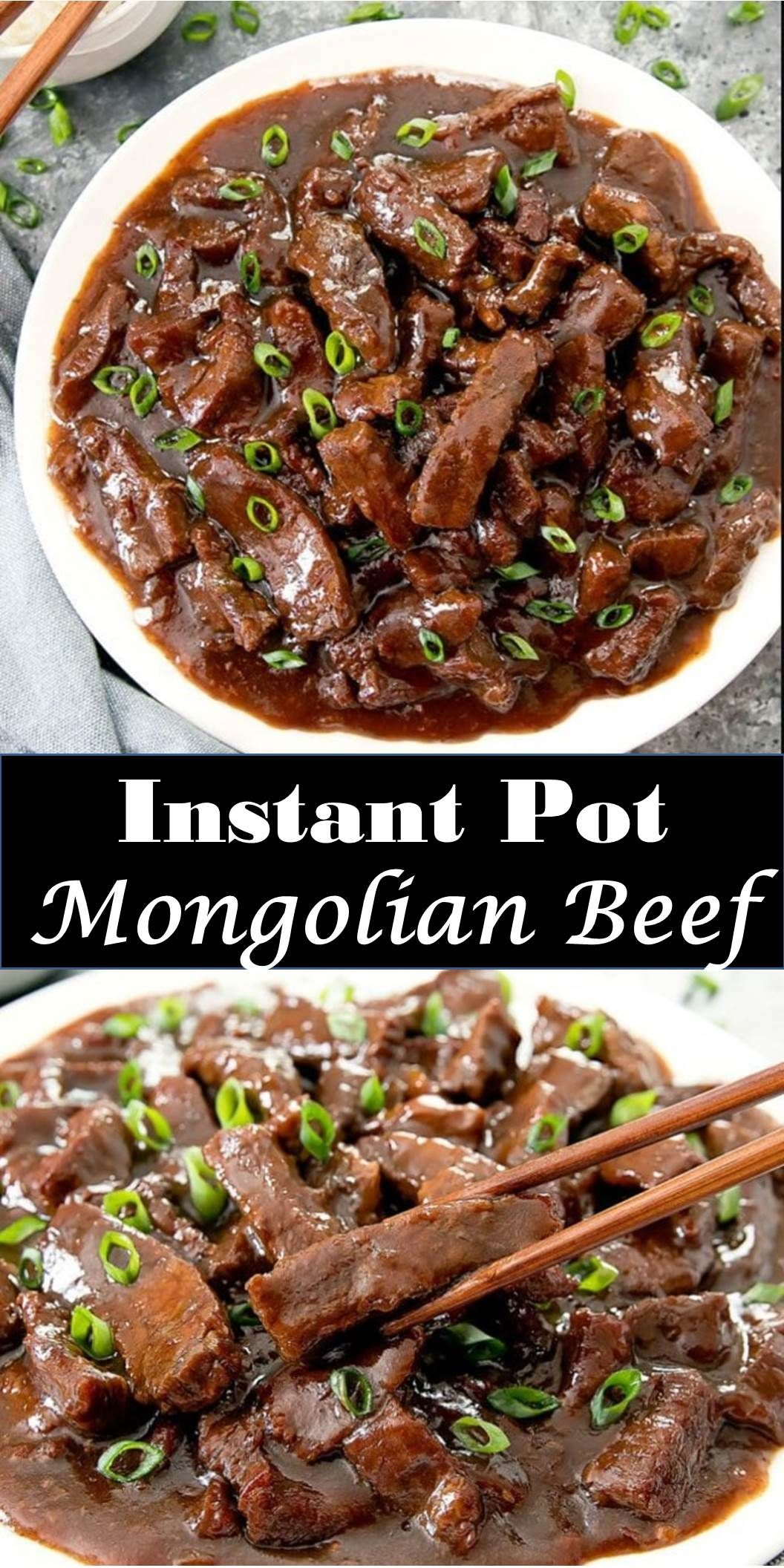 A Pan Full Of Mongolian Beef With Green Onions With Images