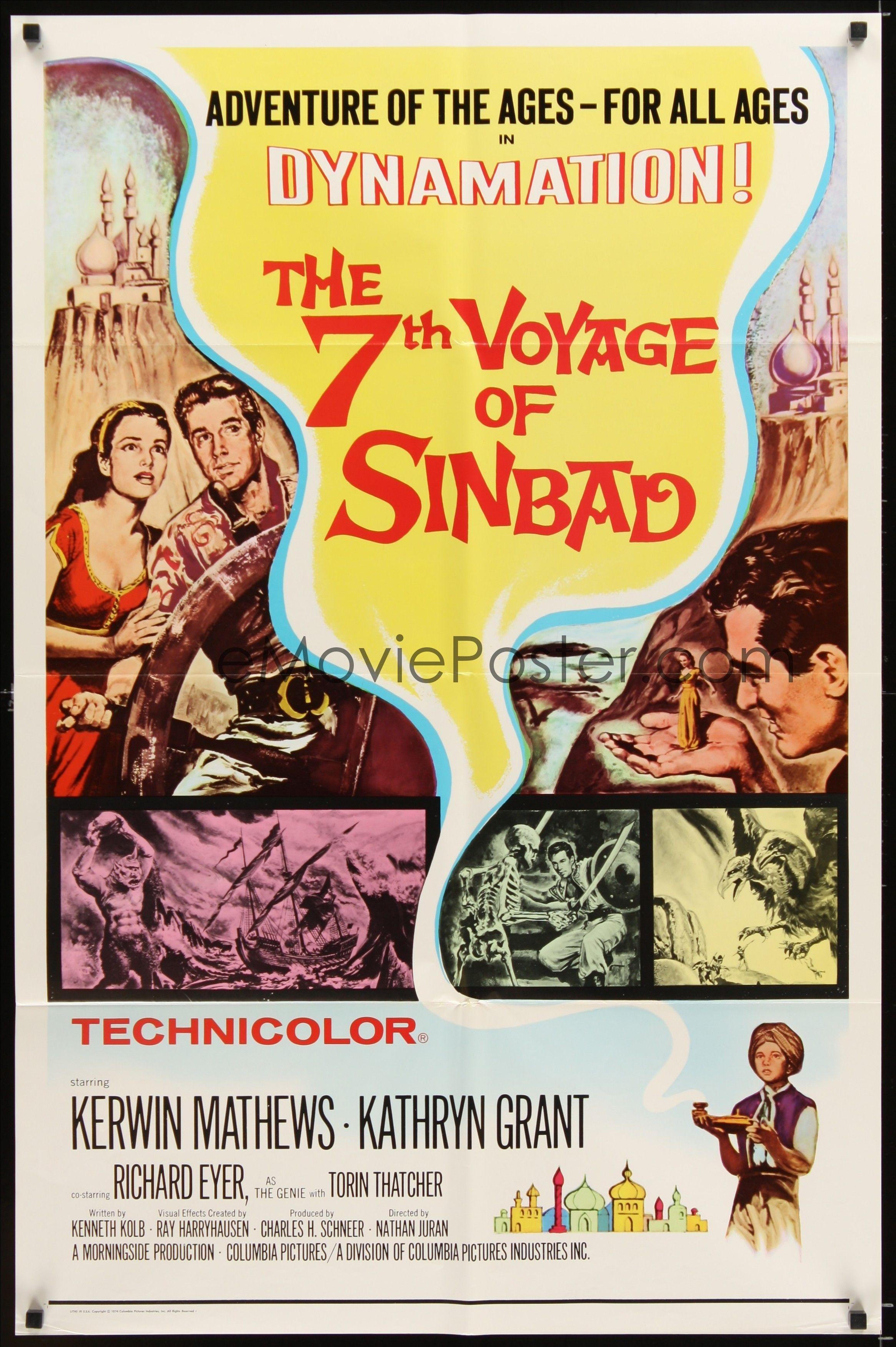 The 7th Voyage of Sinbad Poster////The 7th Voyage of Sinbad Movie Poster////Movie Po