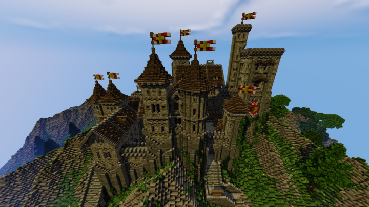 Medieval Castle Flac Server Minecraft Project