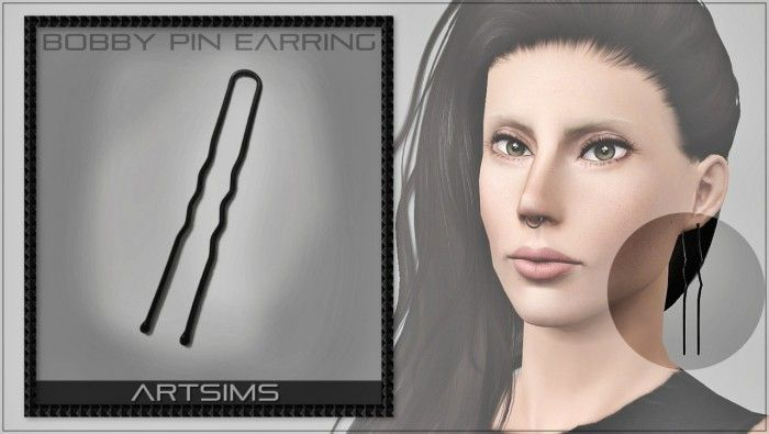 Bobby Pin Earrings by Artsims - Sims 3 Downloads CC Caboodle