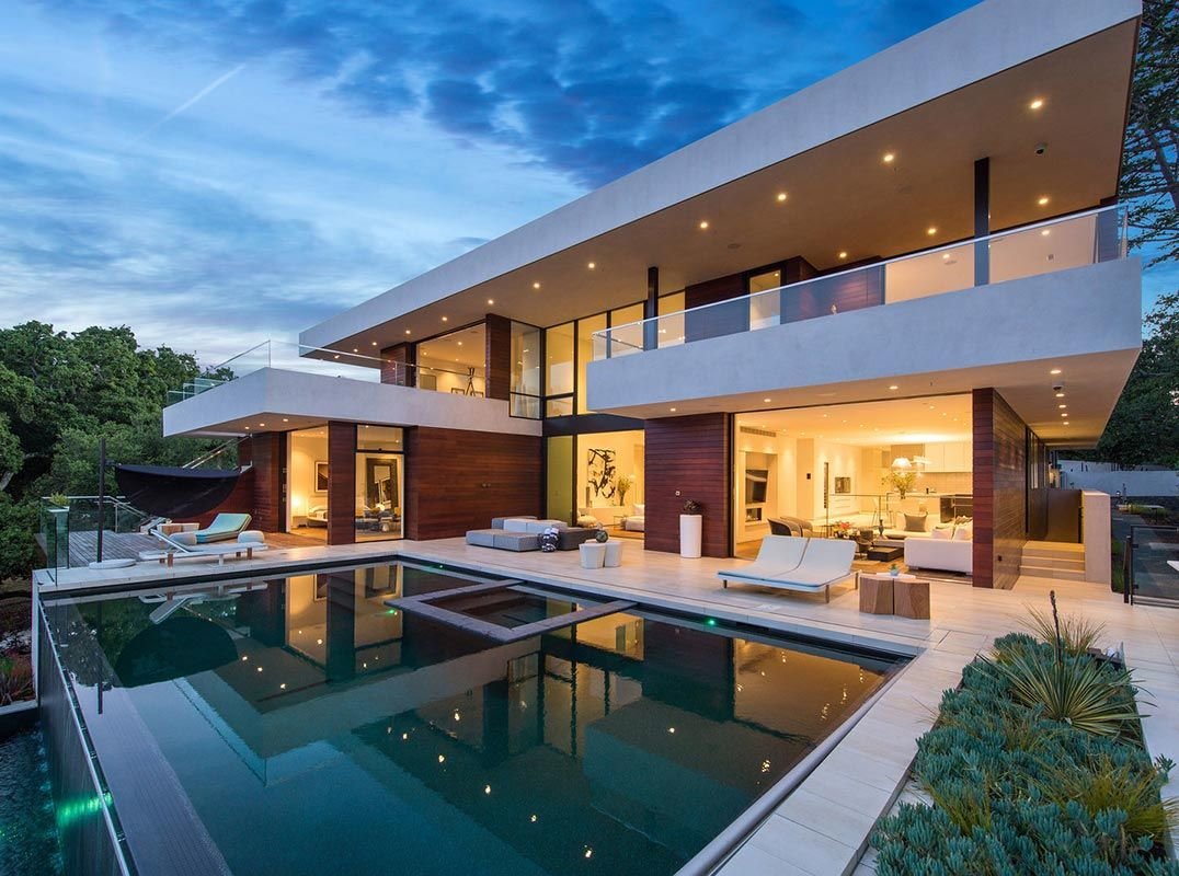 Architectural Tour De Force Perched Atop The Los Altos Hills Listed By Joe Velas Luxury Homes Dream Houses House Designs Exterior House Architecture Design