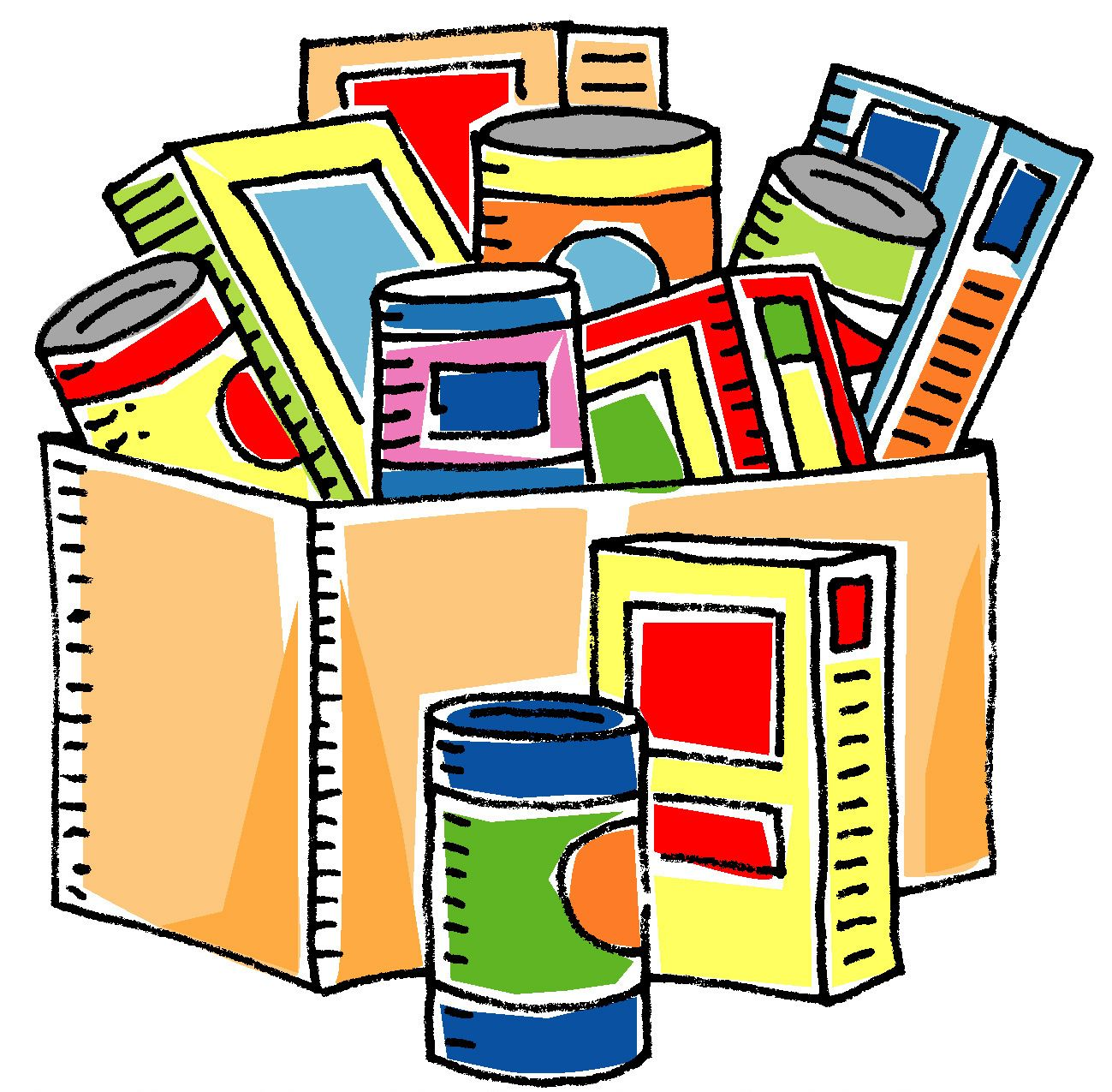 Food Donation Food Drive Clipart