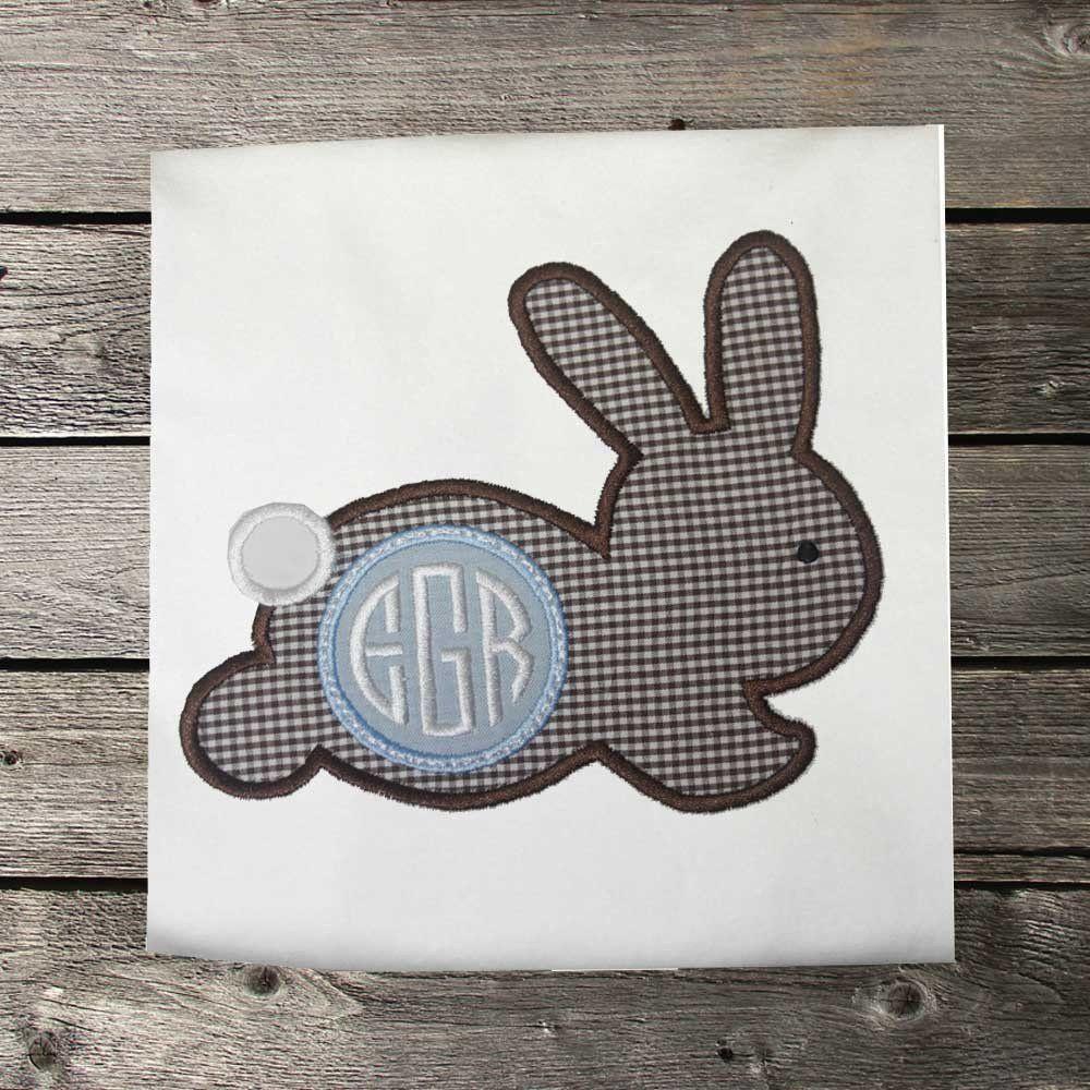 Boys Easter Shirt,Easter Bunny Monogram  Shirt,Appliqué Embroidered Shirt Bodysuit