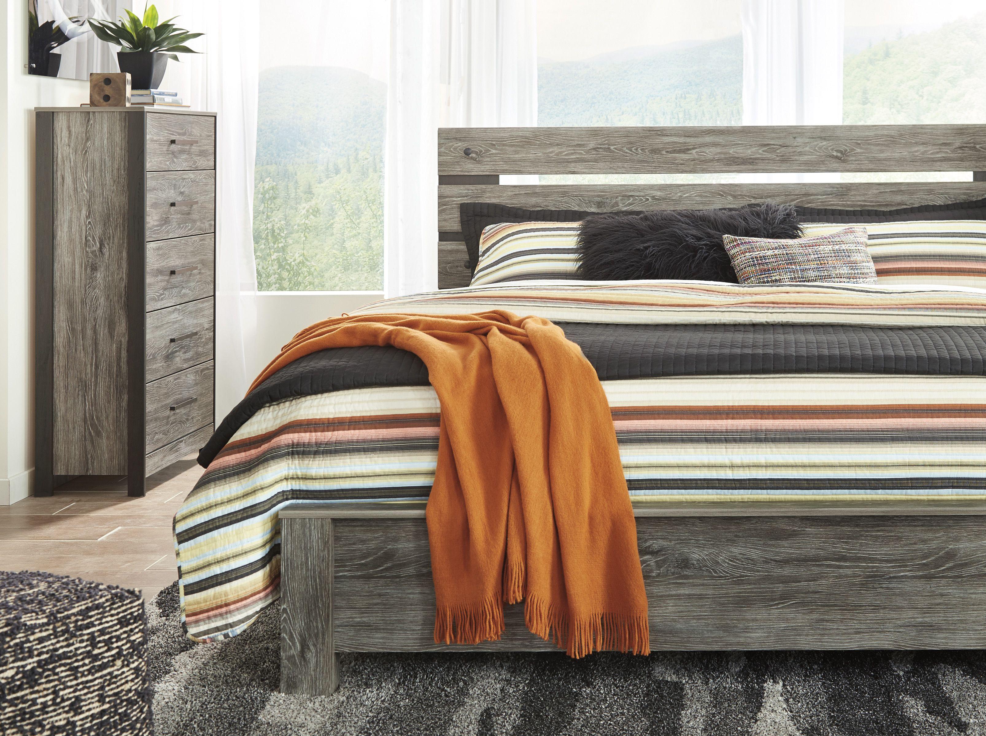 Ashley Cazenfeld Queen Bed Homemakers Furniture