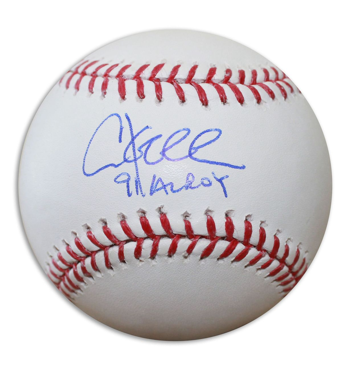 Chuck Knoblauch Autographed Official Mlb Baseball Inscribed 91 Al Roy Mlb Baseball Baseball Mlb
