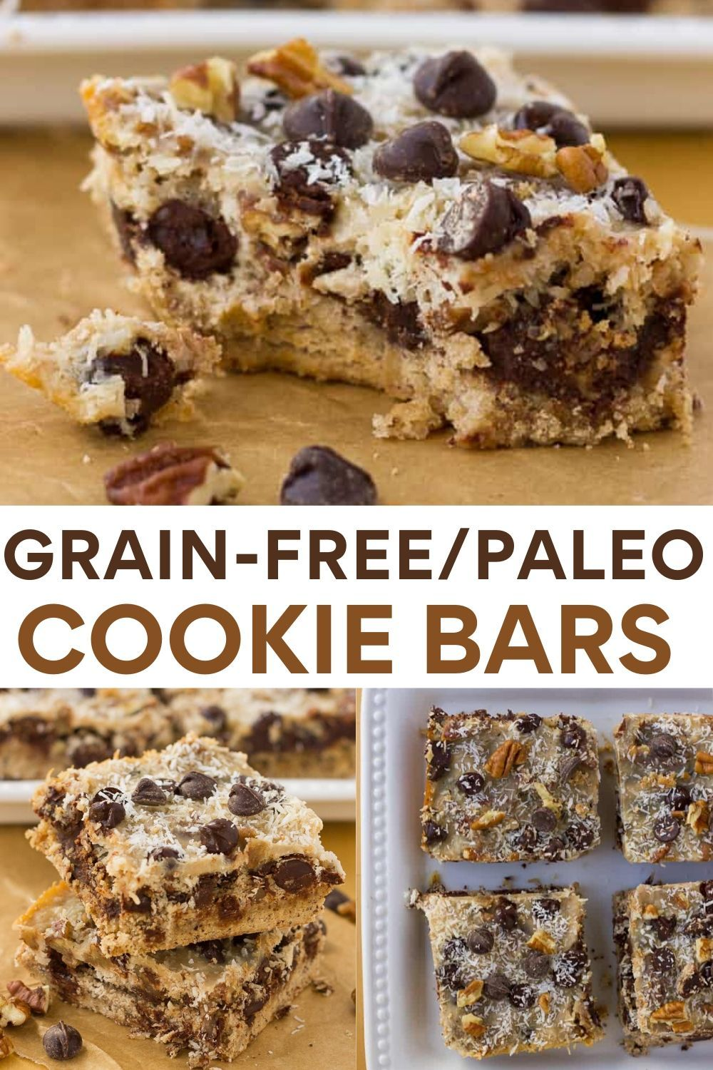 Grain Free Magic Cookie Bars Dairy Free Paleo Recipe In 2020 Grain Free Cookies Dessert Recipes Easy Best Gluten Free Recipes