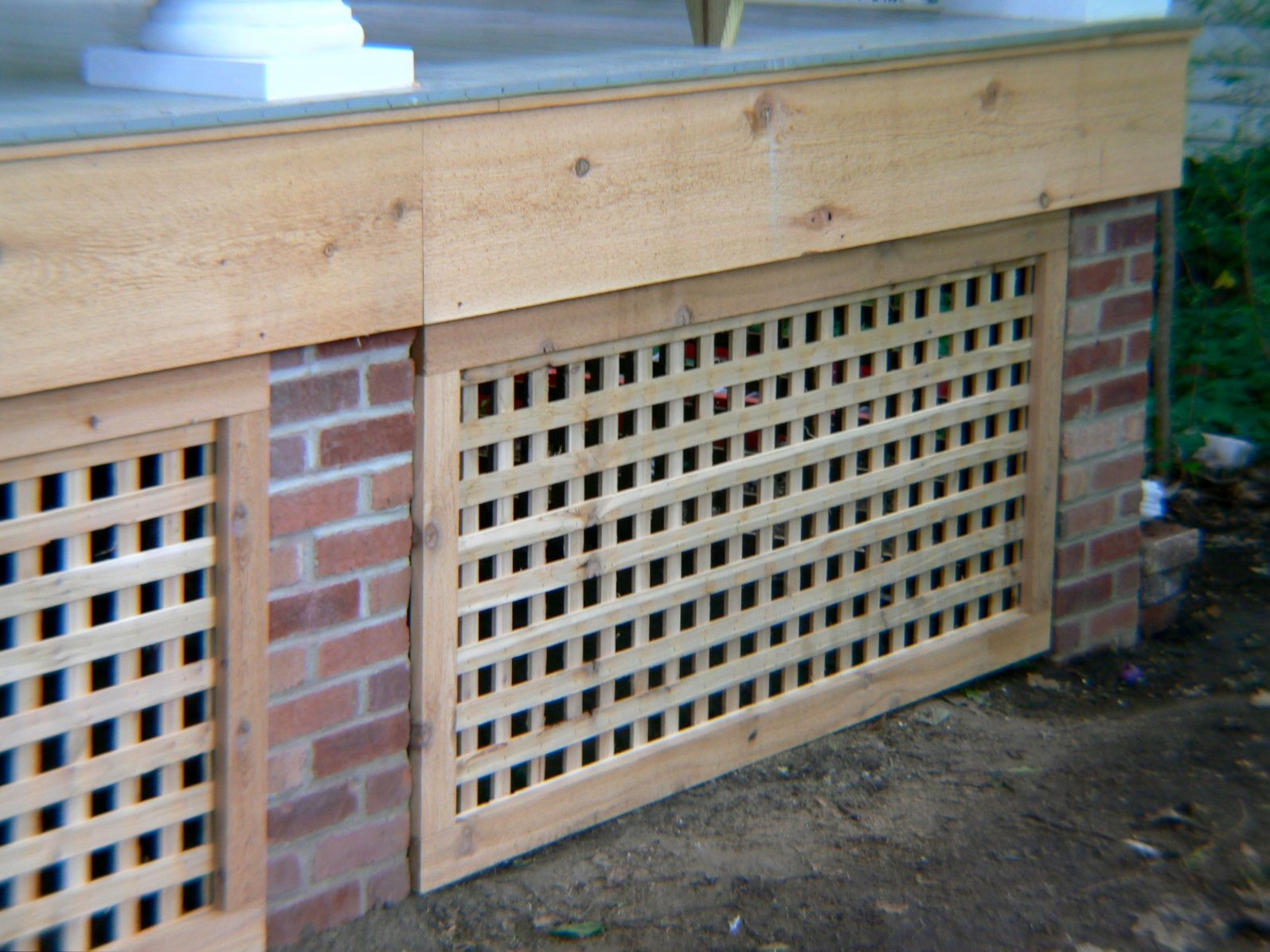 Pin By Jennifer Mckinney On Back Deck Front Porch Ideas Porch Lattice Porch Remodel Building A Porch