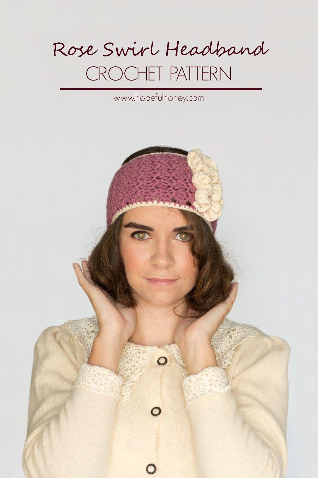 Hopeful Honey | Craft, Crochet, Create: 1920\'s Rose Swirl Headband ...