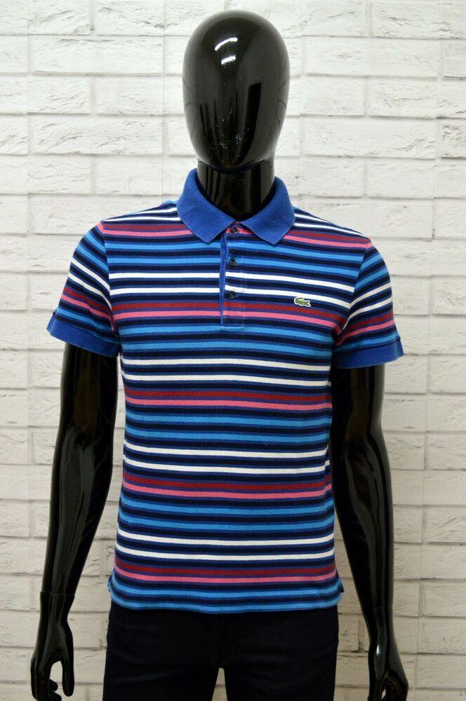 huge discount d7d28 6fed4 Polo LACOSTE Uomo Taglia 4 S Maglia Maglietta Camicia Shirt ...