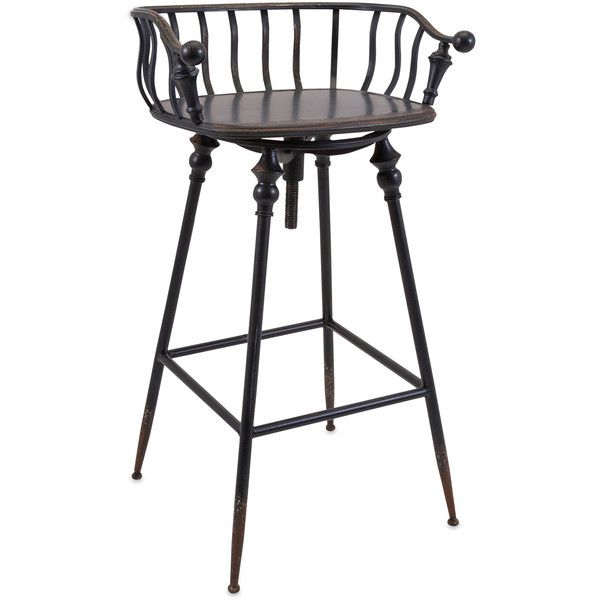 Abbot Metal Bar Chair ($381) ❤ Liked On Polyvore Featuring Home, Furniture,