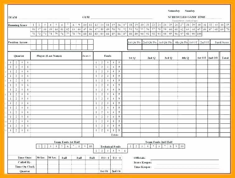 Free Printable Basketball Score Sheet New Basketball Score Sheet