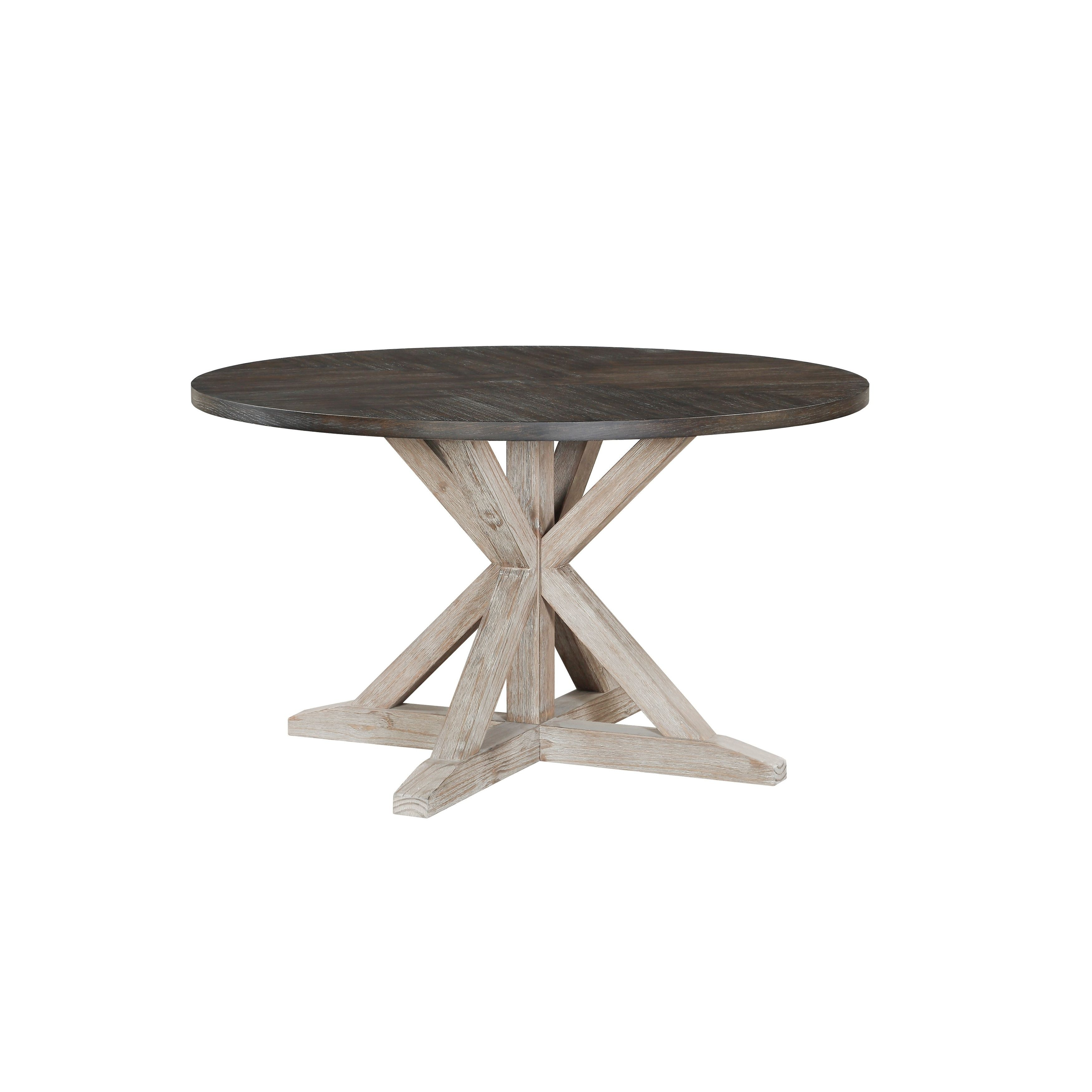 Standard Furniture Jefferson Round Dining Table Distressed Brown