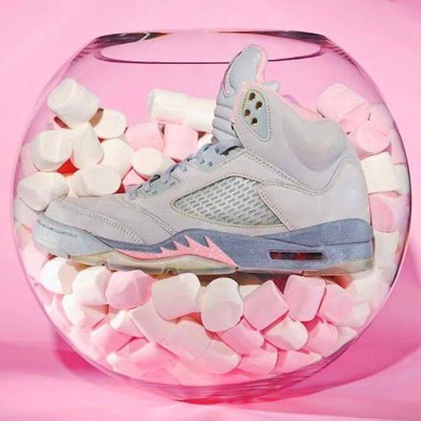 b202cec3cbd WMNS AIR JORDAN 5 RETRO - SILVER/SHY PINK-STEALTH | Shoes | Shoes ...