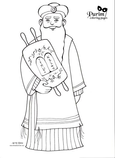 mordechai | Purim Coloring Pages | Coloring pages, Bible crafts ...