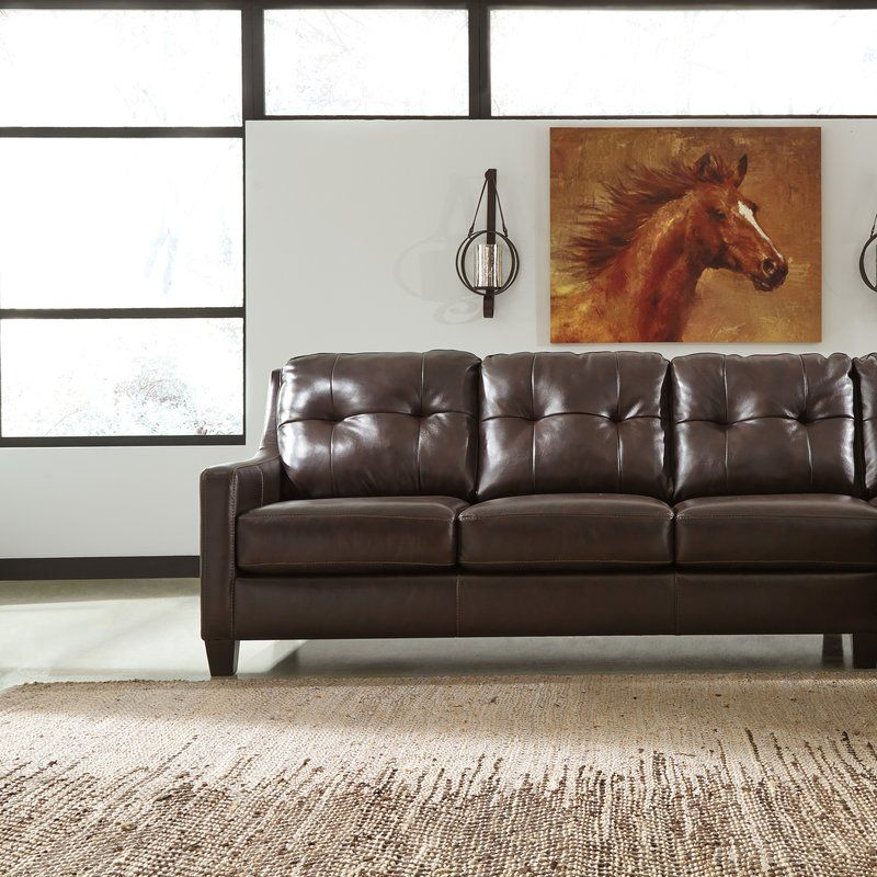 Stouffer Left Hand Facing Leather Sleeper Sofa Leather Sleeper Sofa