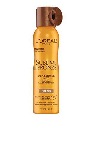 Loreal Paris Sublime Bronze Self Tanning Mist Medium 46 Oz To View Further For This Item Visit The Image Link Tanning Mist Loreal Paris Self Tanning Spray