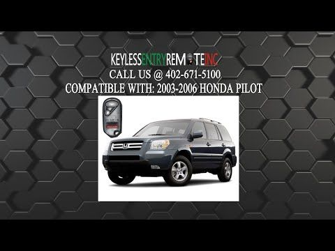 How To Change A 2003 2007 Honda Pilot Key Fob Battery Programming Instructions