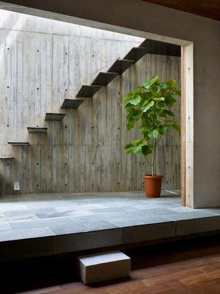 Bajo escaleras estilo minimalista   zen   decoractual   diseño y ...