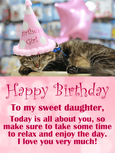 Adorable Cat Happy Birthday For Daughter Who Can Resist Smiling