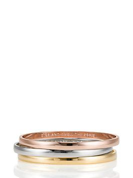 Beautiful Kate Spade Idiom Bangle Set Heart Of Gold Find The Silver Lining Stop And Smell Roses